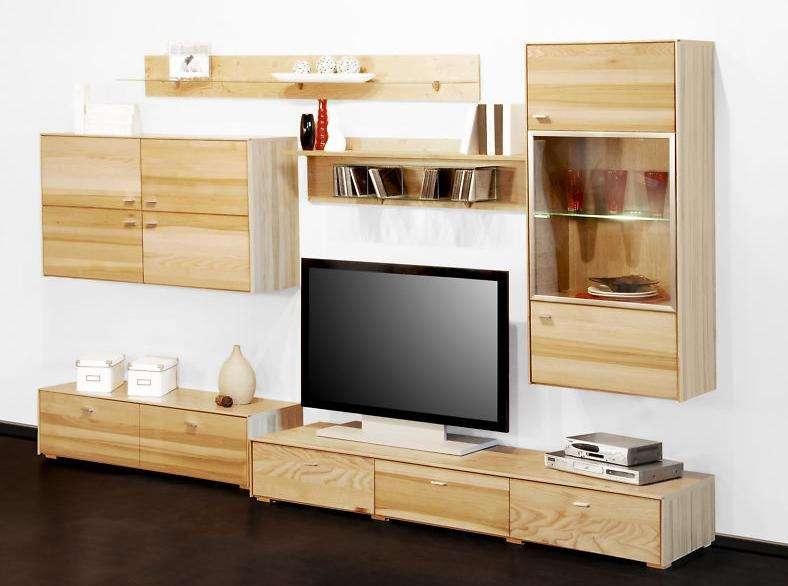 wohnwand anbauwand wohnzimmerschrank wonhzimmer schrank kernesche esche massiv. Black Bedroom Furniture Sets. Home Design Ideas