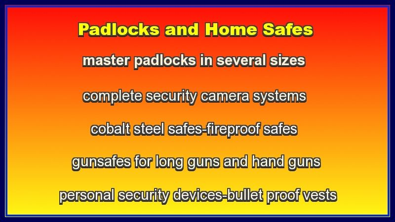 padlocks and safes