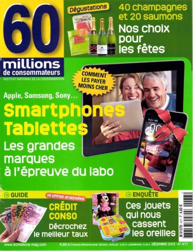 60 Millions Consommateurs N°477 Décembre 2012