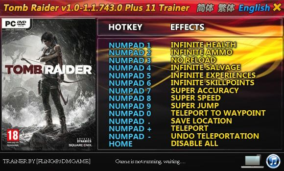 Tomb Raider 1.0.716.5-1.1.743.0 +11 Trainer [FliNG]