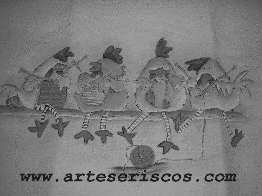 Pintura de Galinhas