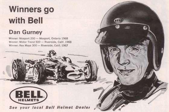 Dan Gurney, winner of Rex Mays 300 (Riverside, Calif, 1967), Mosport 200 (Mosport, Ontario, 1968), Motor Trend 500 (Riverside, Calif, 1968)