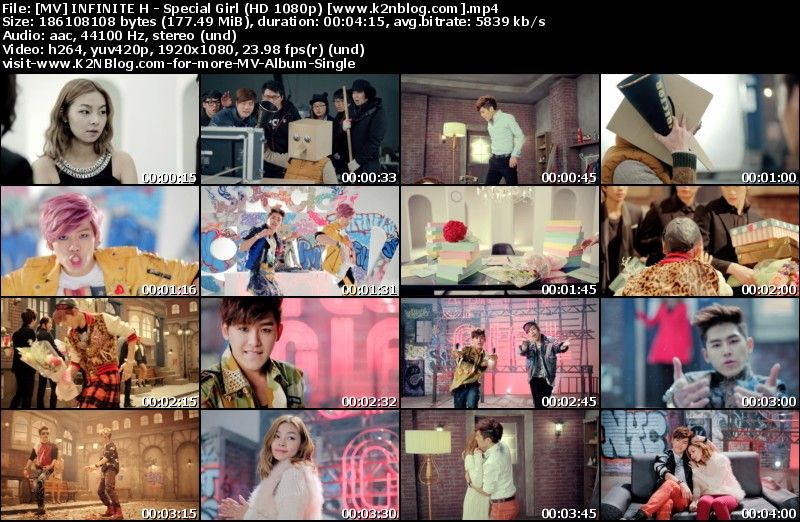 [MV] INFINITE H - Special Girl (HD 1080p Youtube)
